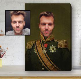 Renaissance Portrait Framed Canvas - The General