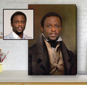 Renaissance Portrait Canvas - The Ambassador Gentleman