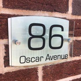 Personalised Metal Acrylic Glass Effect Door Sign