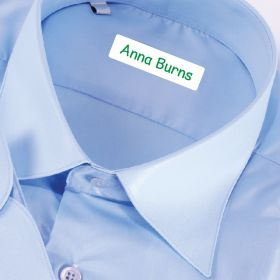 25 x Personalised Iron-on Name Labels - Green
