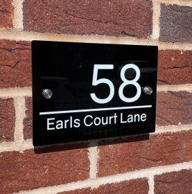 Personalised Rectangular Acrylic Door Sign - (F_RIGHT_LINE022)