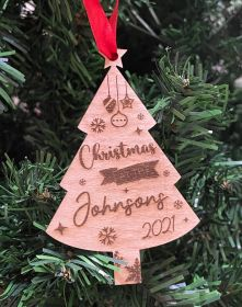 Personalised Christmas Wood Bauble - Christmas at the .... (XTREE)