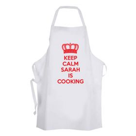 Keep Calm RED - Personalised Apron
