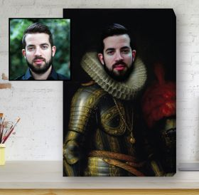 Renaissance Portrait Canvas - The Nobleman knight