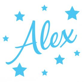 Personalised Name Wall Stickers - Stars