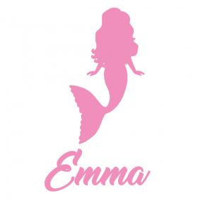 Personalised Name Wall Stickers - Mermaid