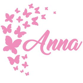Personalised Name Wall Stickers - Butterflies