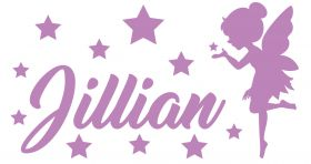 Personalised Name Wall Stickers - Fairy