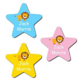 30 Star Lion Name Labels