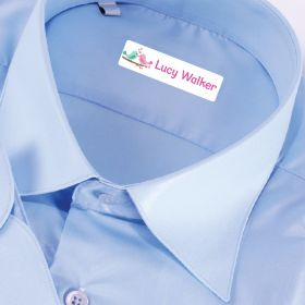 25 x Personalised Iron-on Name Labels - Love birds