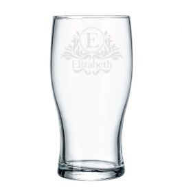 Personalised Pint Beer Glass - Lux001_BL