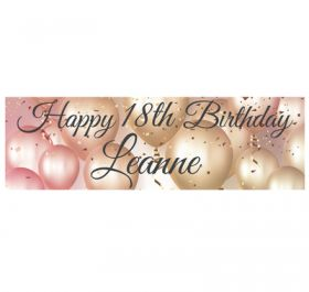 Giant Personalised Birthday Banner - Luxury