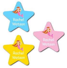 30 Star Mermaid Name Labels
