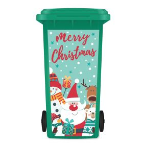 CHRISTMAS WHEELIE BIN STICKER PANEL - Merry 036