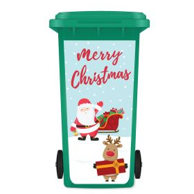 CHRISTMAS WHEELIE BIN STICKER PANEL - Merry Christmas SR12