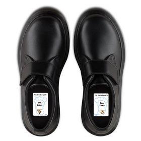 5 Pairs of Personalised Iron-on Name Shoe Labels - Monkey