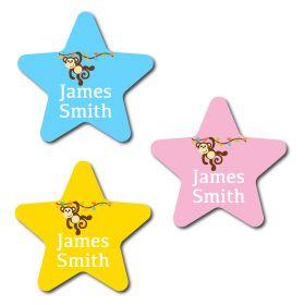 30 Star Monkey Name Labels