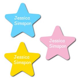 30 Star 'Just' Name Labels