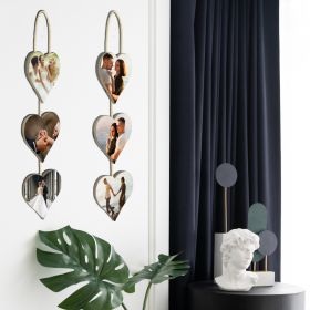 Personalise 3 Hanging Panels - Heart Shaped