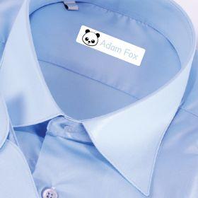 25 x Personalised Iron-on Name Labels - Panda