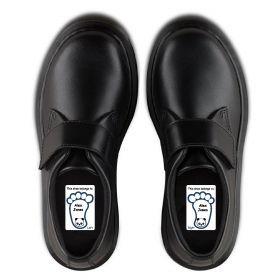 5 Pairs of Personalised Iron-on Name Shoe Labels - Panda
