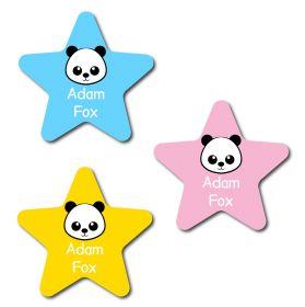 30 Star Panda Name Labels