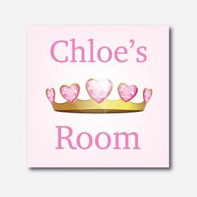 Personalised Kids Room Canvas - Princess (Square)