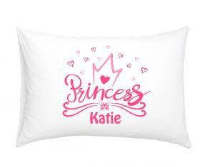 Princess 3021 Hearts - Personalised Pillow Case