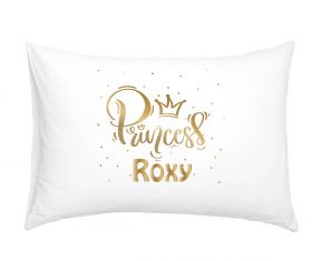 Princess 3022 Gold Effect - Personalised Pillow Case