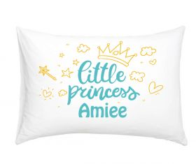 Princess Teal 3026 - Personalised Pillow Case