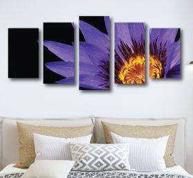 Purple Flower Canvas (1321 RMC 5 Panel)