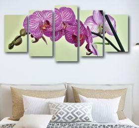 Purple Orchid Flower Canvas (1316 RMC 5 Panel)