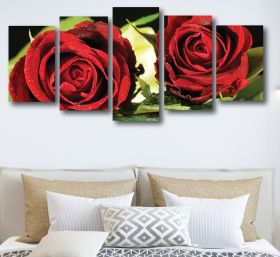 Red Rose Canvas (1317 RMC 5 Panel)