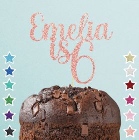 Personalised Happy Birthday Cake Topper Decoration - #HP_ JUSTNA03