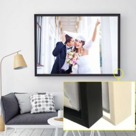 A4 (12in x 8in) Personalised Floating Frame Canvas