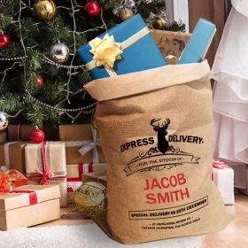 Express Delivery 'Full Name' Personalised Christmas Sack xsack2