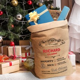 Naughty or Nice 'Full Name' Personalised Christmas Sack xsack3