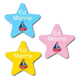 30 Star Sailing Boat Name Labels