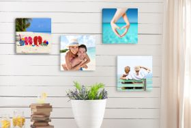 Set of 4 x Square 8in x 8in - Personalised Canvas