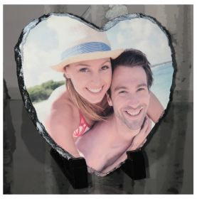Personalised Photo Slate - Heart Shaped Buy 1