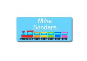Train Rectangle Name Label