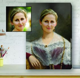 Renaissance Portrait Canvas - Tudor Lady