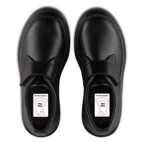 5 Pairs of Personalised Iron-on Name Shoe Labels - Unicorn
