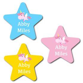 30 Star Unicorn Name Labels