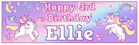 Personalised Birthday Banner Unicorn