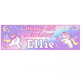 Giant Personalised Birthday Banner - Unicorn