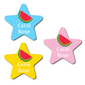 30 Star Water Melon Name Labels